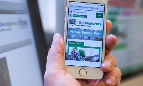 Accessing a webiste on a phone using a website shortcut
