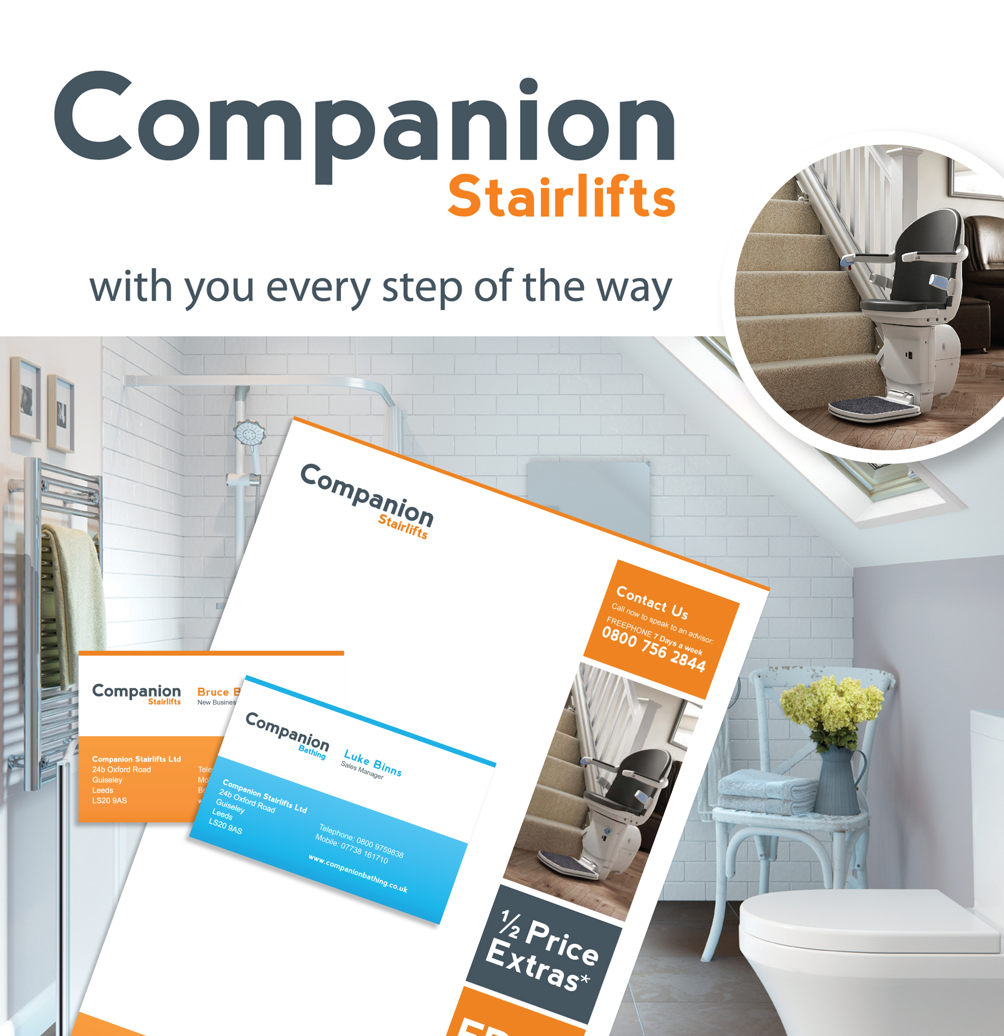 Rebranding Project for Companion Stairlifts and Bathing