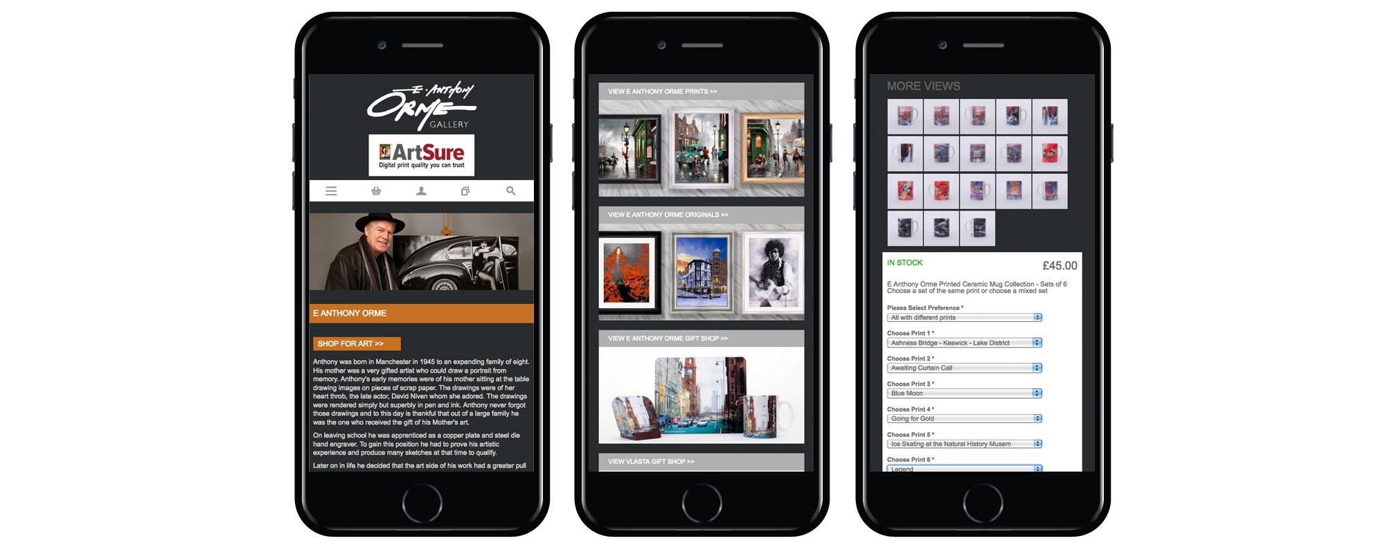 Award winning website for Manchester Gallery