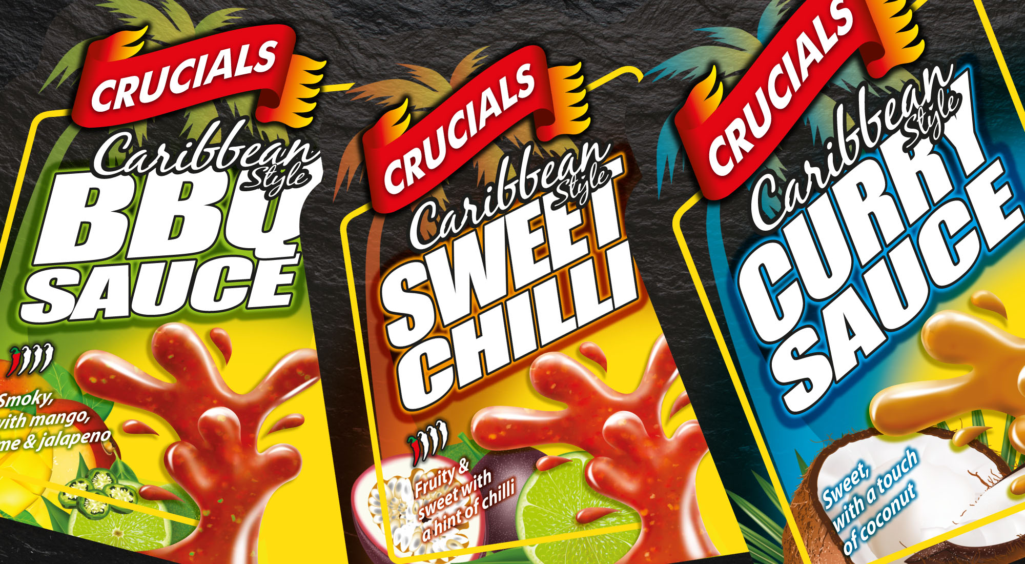 Crucials Sauce Label Design