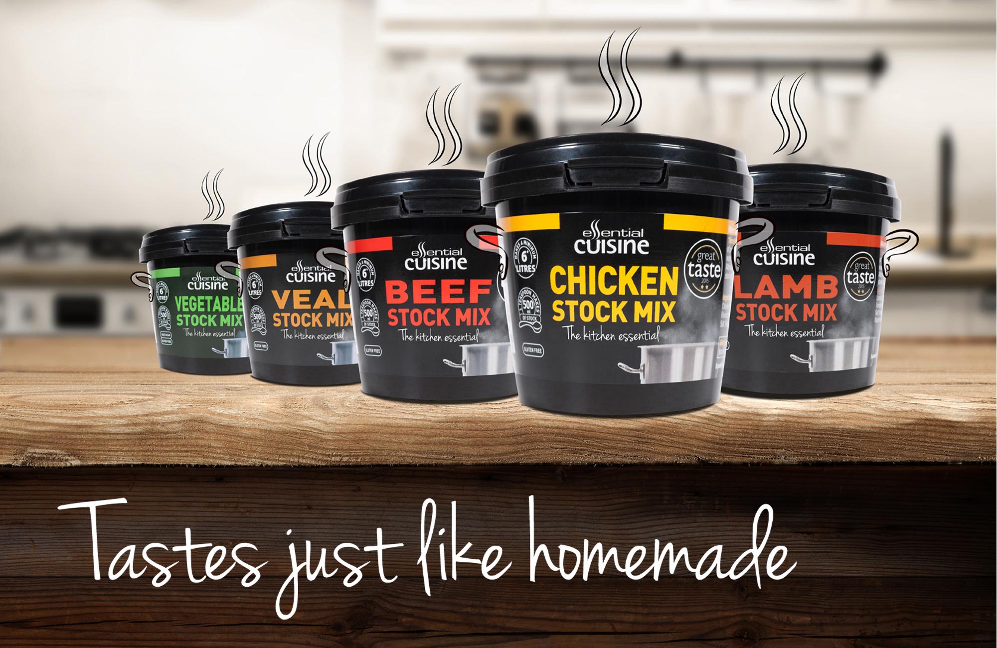 Retail Packaging Design for Essential Cuisine