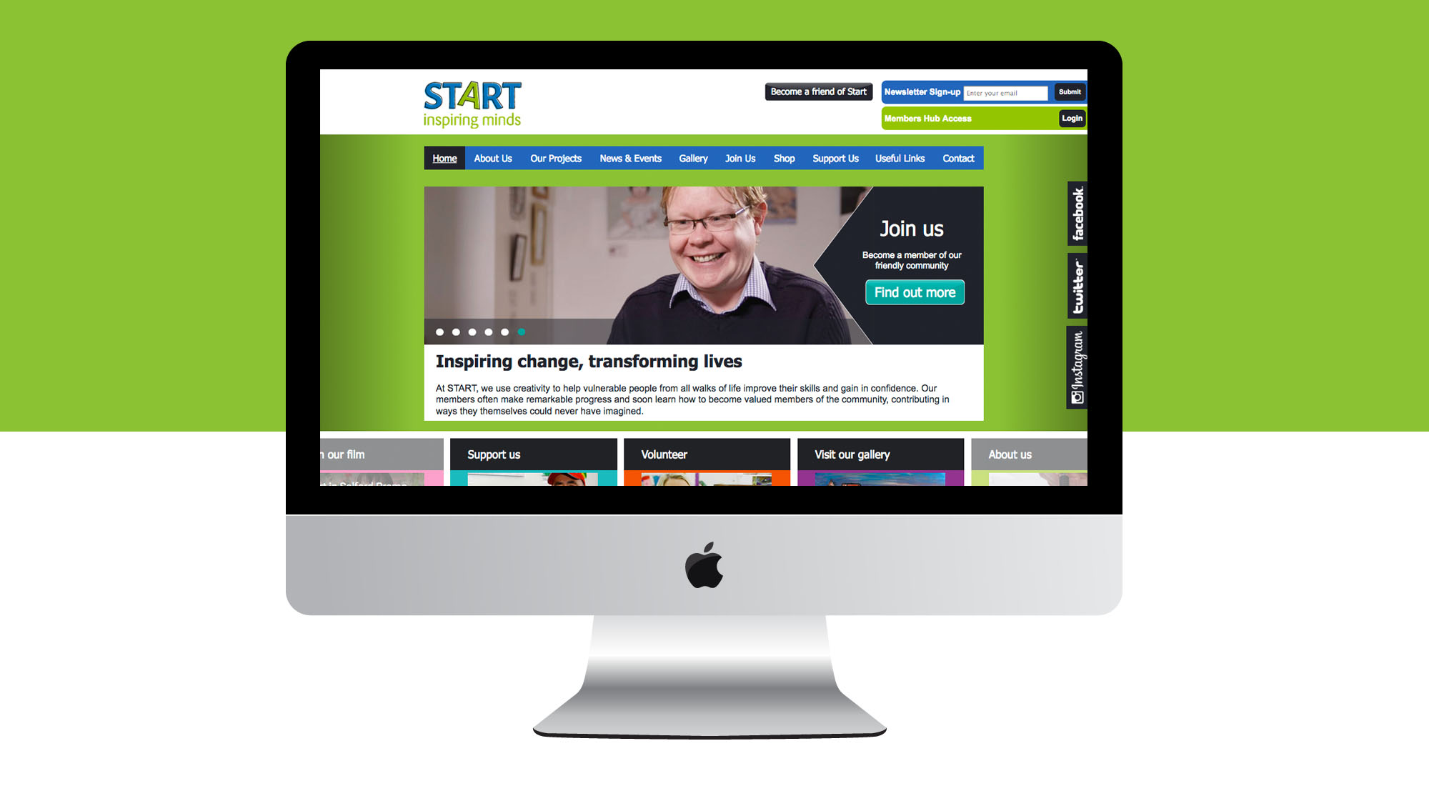 Charity Website Design for Start in Salford