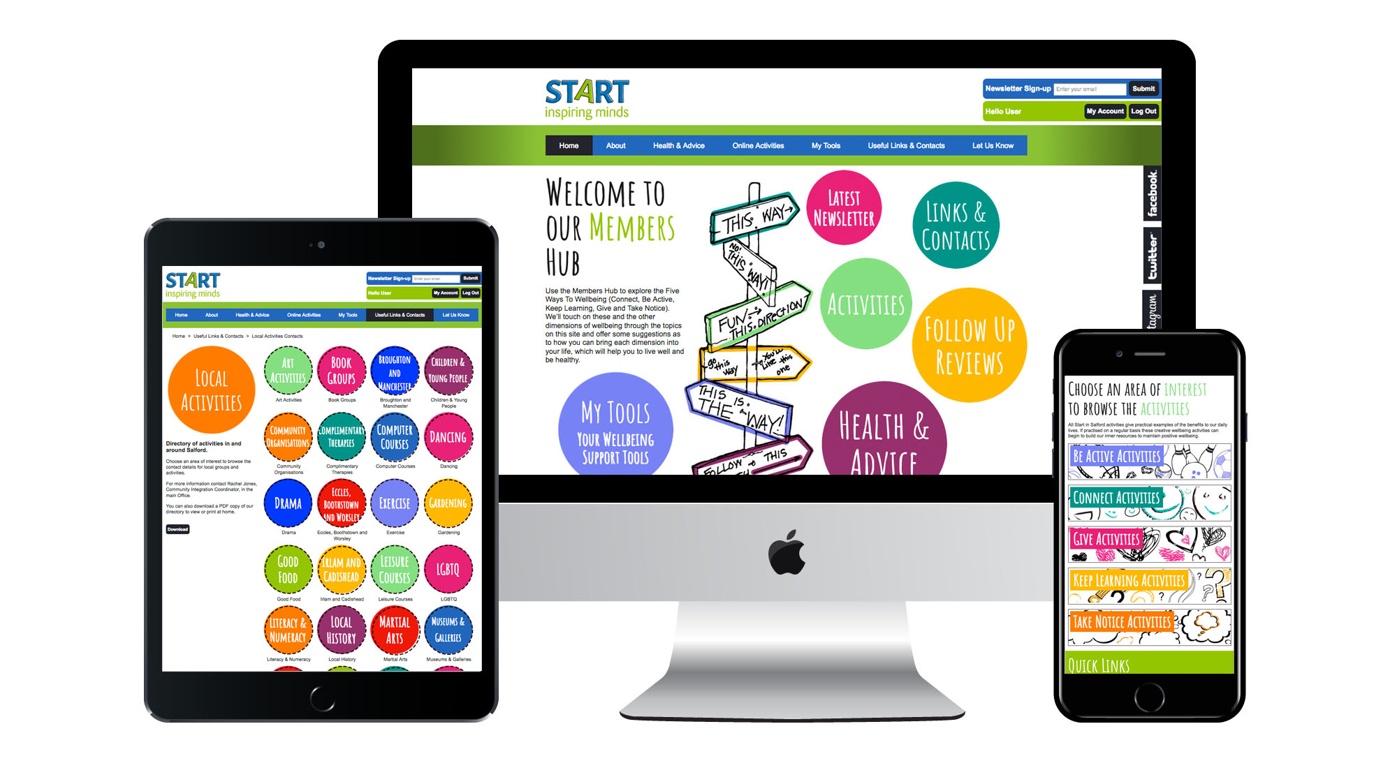 Bespoke Website Design for Start in Salford