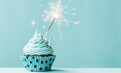 Cake to celebrate Hive turning ten years old